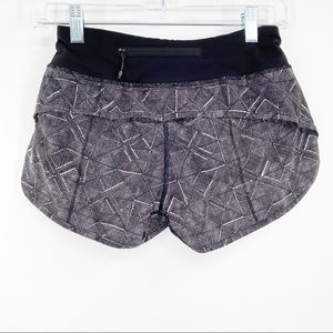 LULULEMON | Speed up Black Gray Athletic Shorts